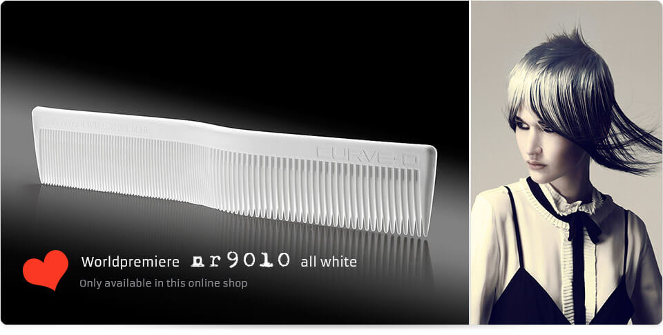 Worldpremiere nr 9010 all white Comb